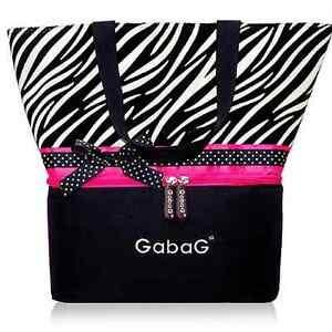 GabaG zebra cooler bag
