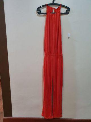 Red Jumpsuit knit