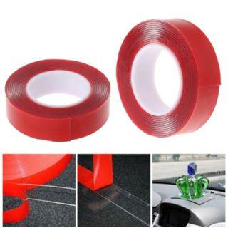 [NEW] 2M Red Double Sided Adhesive Tape High Strength Acrylic Gel Transparent Car Fix