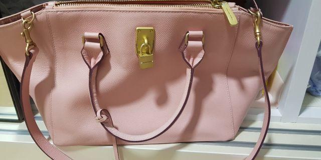 Samantha Thavasa large pink handbag leather