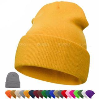 [NEW] Beanie Plain Knit Hat Winter Warm Cuff Cap Slouchy Skull Ski Warm Men Women