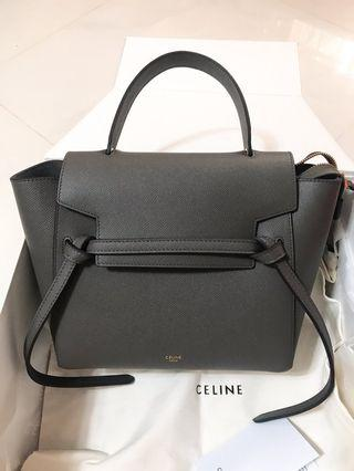 實拍❤️Celine belt bag micro 鯰魚包 灰色