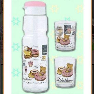 鬆弛熊玻璃水瓶水杯套裝 San-X Rilakkuma 日本直送 Toreba