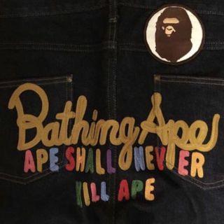 A Bathing Ape (Bape) Denim Jeans