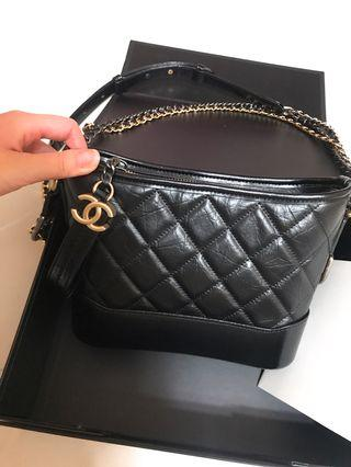 Chanel Gabrielle bag 20cm black 流浪包