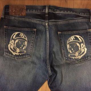 Glow in the dark back pockets BBC logo Billionaire Boys Club (BBC) Denim Jeans by Pharrell Williams