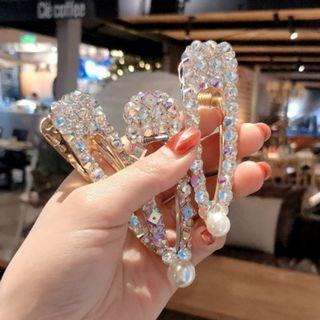 [NEW] Fashion Korean New Crystal Rhinestones Hairpin Women Snap Barrette Hair pins