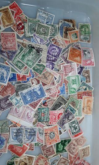 300 Vintage stamps