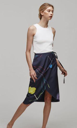 Our Second Nature Sketch Midi Wrap Skirt