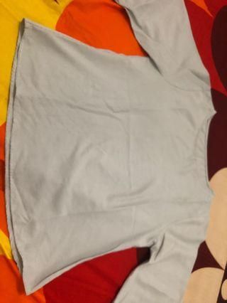 Blouse embriodiery grey