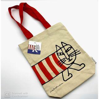 Lisa Larson I MIKEY貓 插畫帆布袋設計款側背包 可裝A4