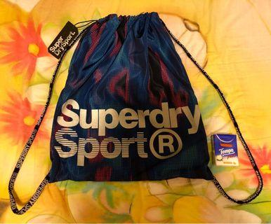 全新Superdry彩色索繩袋 NEW Superdry Multicolour Bag