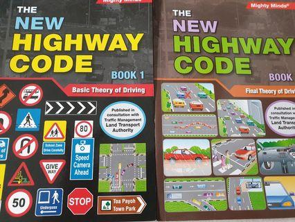 New. The Highway Code book 1. Book 2. $4 each. Driving test book
