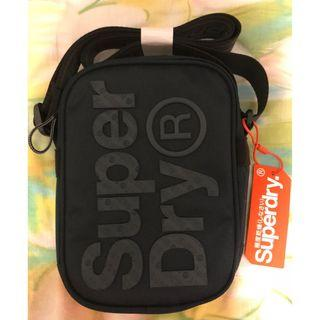 全新Superdry黑色斜揹袋 NEW Superdry Black Pouch Bag