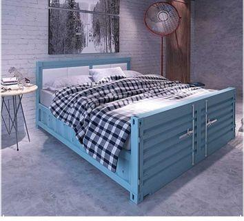 [New] Retro Metal Container Bed Frame