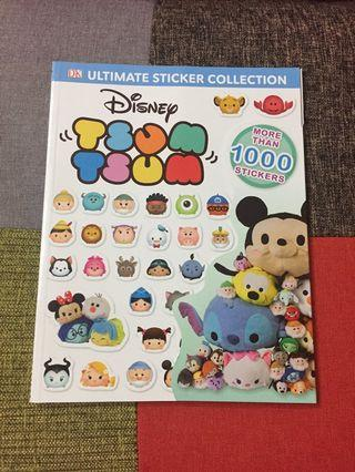 全新~ Disney Tsum Tsum 1000+ stickers book