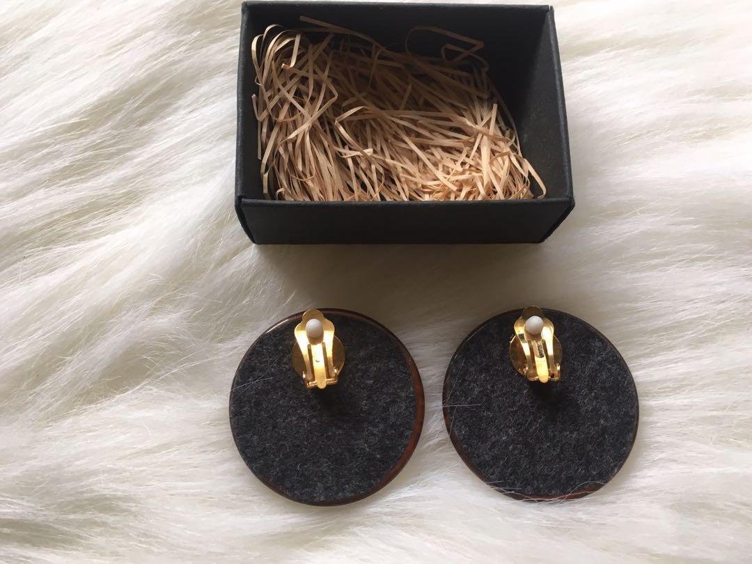 全新夾式復古式夢幻金屬耳環