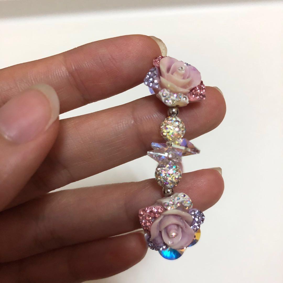 <現貨免運>紫色玫瑰花園手鍊(當天🉑️出貨