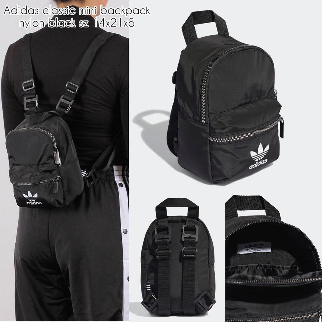 Adidas classic mini backpack nylon black sz 14x21x8 /bs sling /bs unisex