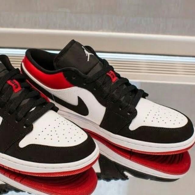 Air Jordan 1 Low Bred Toe, Men's