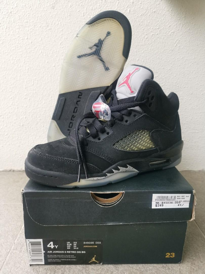 Air Jordan 5 Retro OG BG kids, Luxury