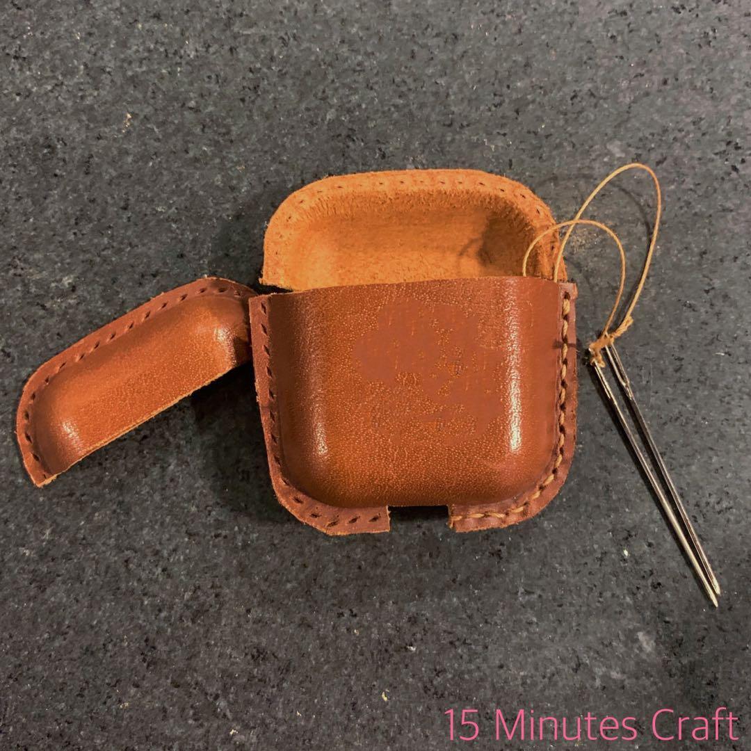 Airpods Case 保護套 材料包 成品 手工 DIY 皮革 真皮 生日禮物 週年禮物 皮套 100%Handmade 材料包有售