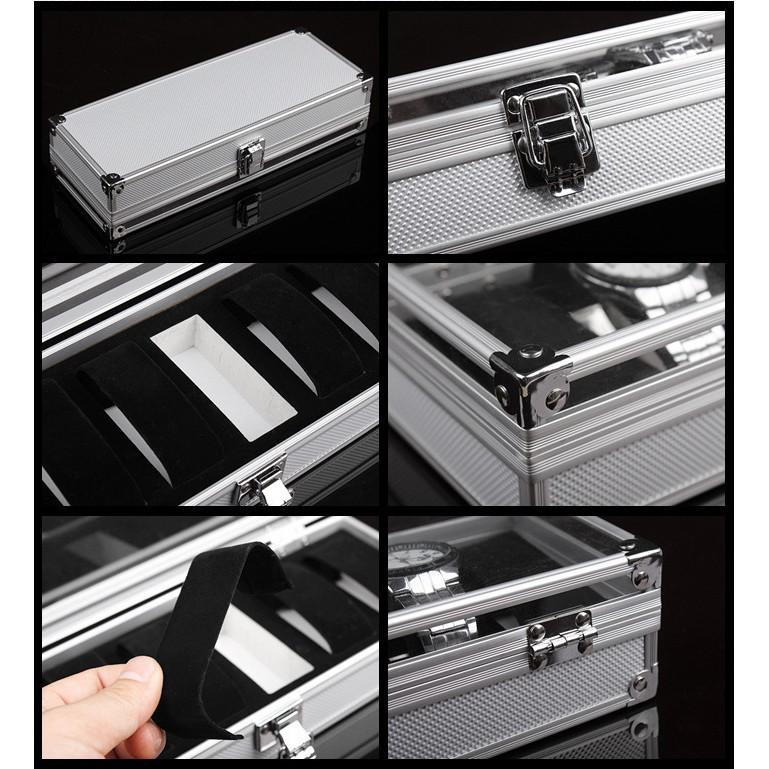 Aluminium / PU Leather Watch Slot Case Storage Box 6 10 12 20 24 slots