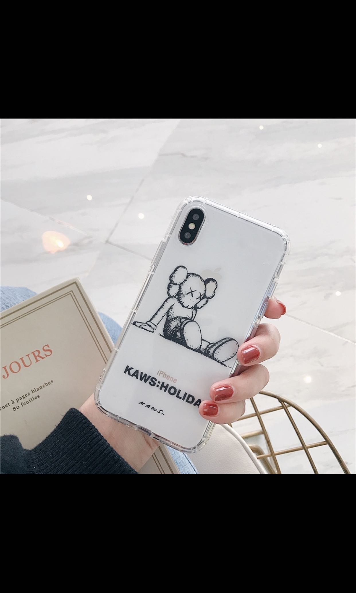 watch 5528b 0e1a1 Apple iPhone XS Max silicone case - Kaws Holiday