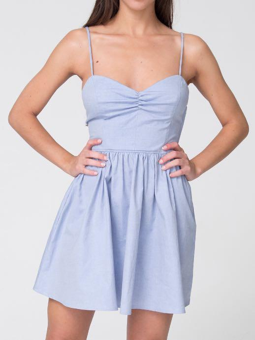 Baby Blue Lace up Dress