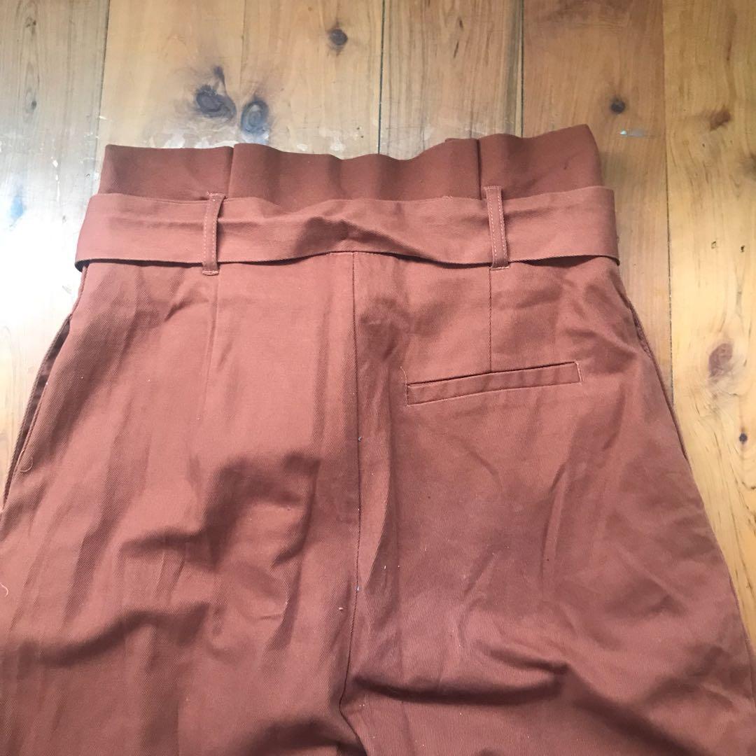 Bnwt sunny girl tan cross over dress pants size 8 RRP $59.99