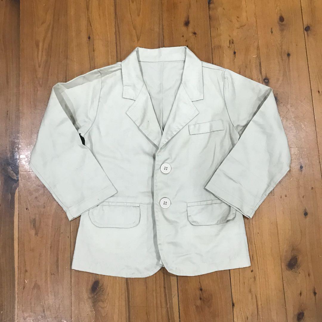 Boys size 3 beige/cream lightweight blazer