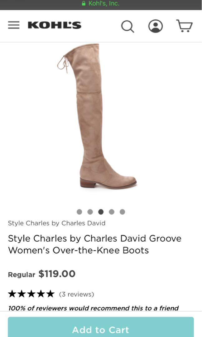 BRAND NEW Charles by Charles David Black over the knee boot