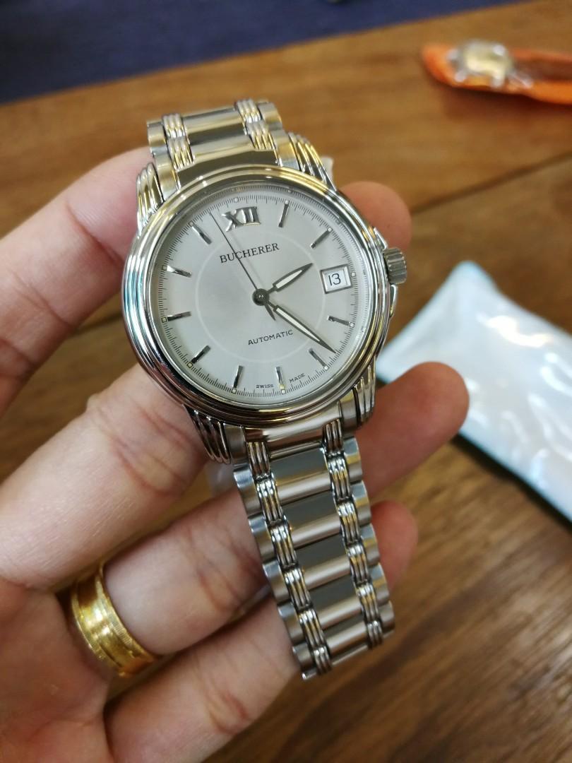 Bucherer Swiss Watch  100% Authentic 36mm Swiss ETA2824 Sapphire Unisex Size Watch Polished Quality
