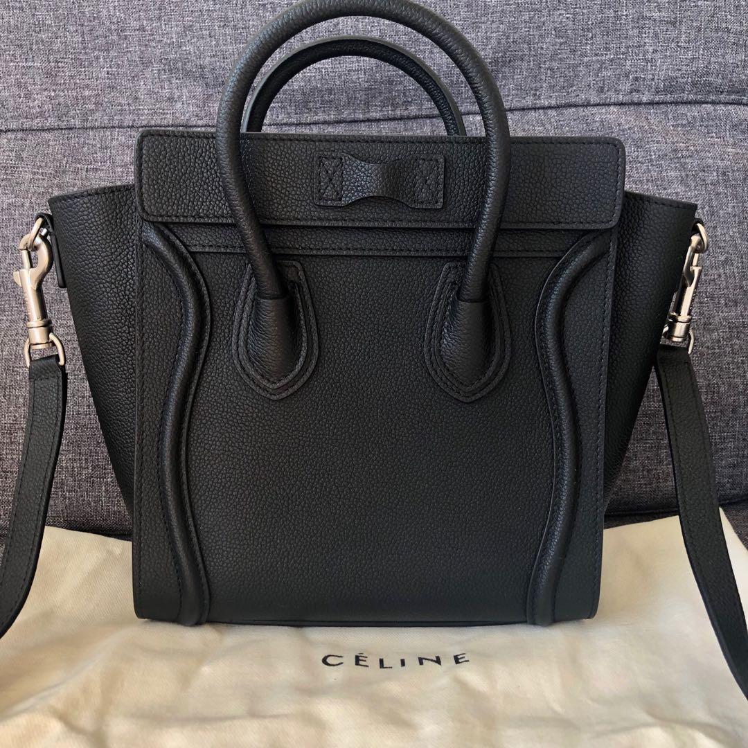 ( Price Reduced )Celine nano luggage bag drummed calfskin