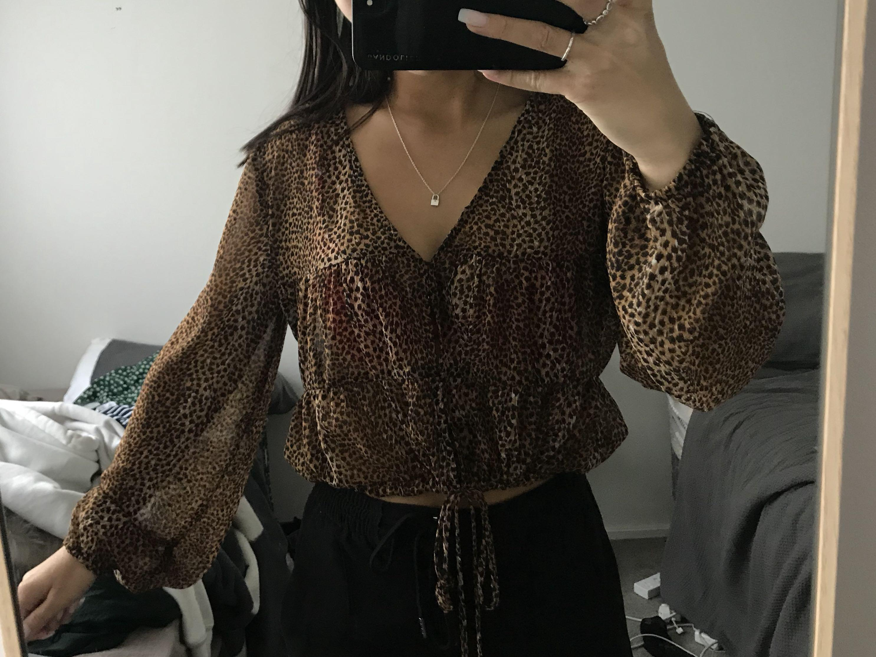 Cheeta sheer top