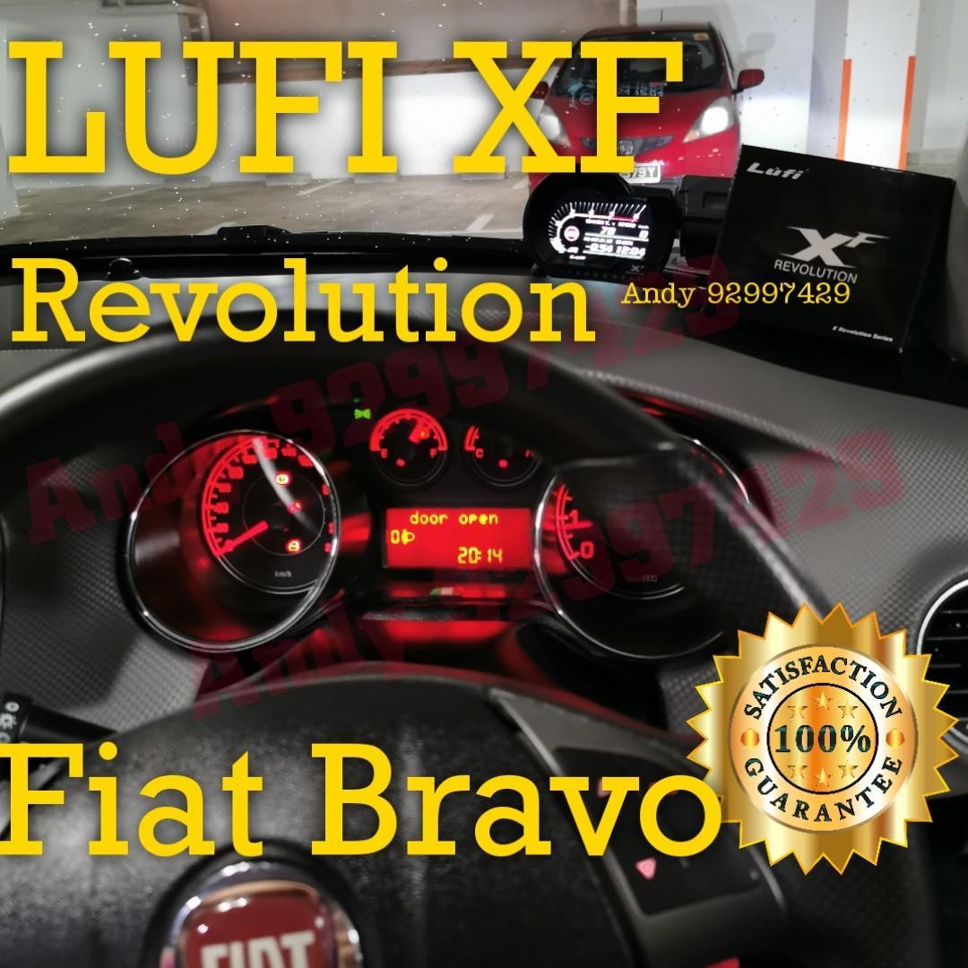 Fiat Bravo Lufi Xf Revolution Obd Obd2 Gauge Meter Display Car Accessories Accessories On Carousell