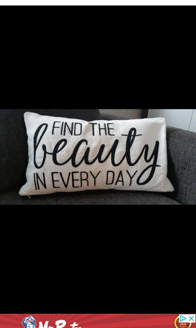 Find the Beauty in everyday decorative accent pillow