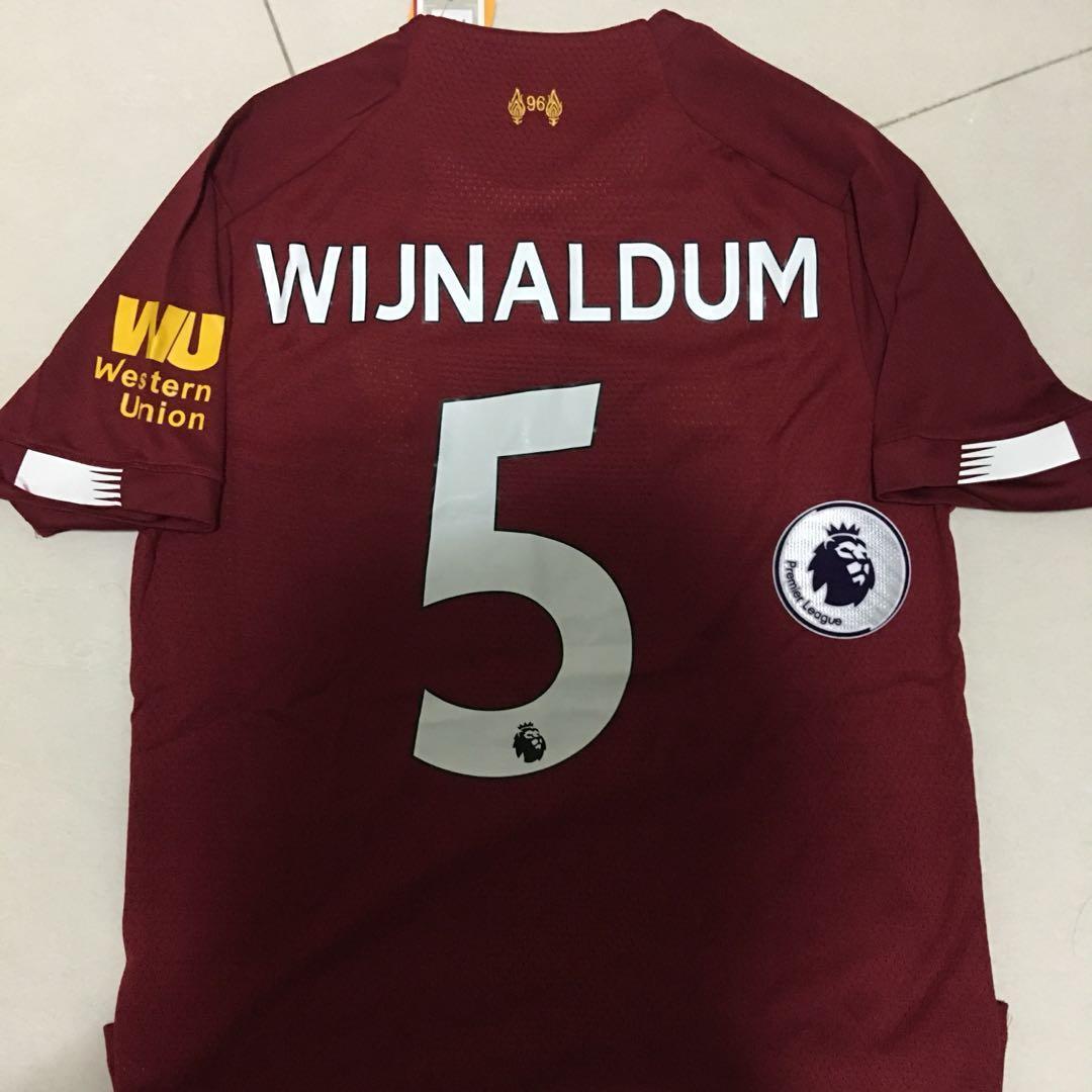 low cost e6a7b 209dd INSTOCK Size S Liverpool Home Jersey football kit Wijnaldum ...