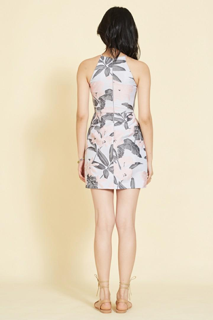 [INTOXIQUETTE] Imogen Jacquard Printed Dress in Pink