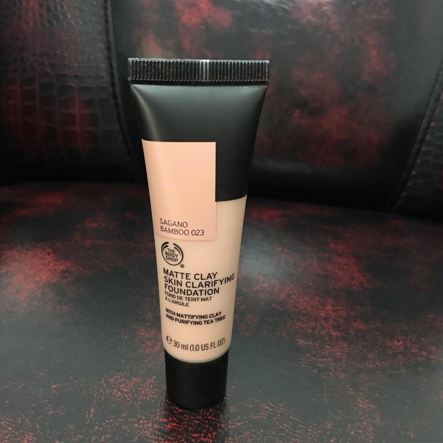 matte clay foundation the body shop