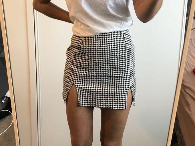 Motel checkered skirt