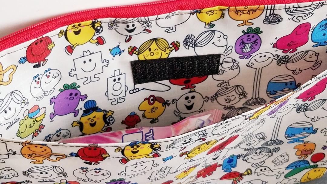 Mr Men & Miss Little  Mr.Smile  防水布袋  雙層布袋 証件袋 文件袋 化粧品 收納布袋 收納袋 手拿包 (包平郵)
