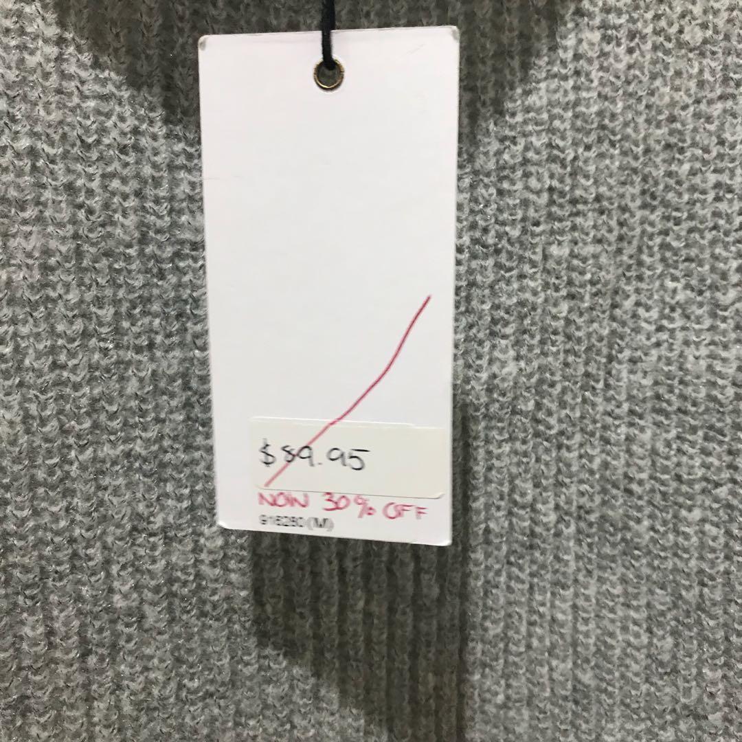 MVN Women's hi lo knit shirt blouse top size 10 RRP $89