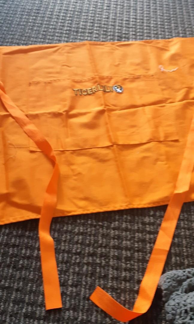Orange apron