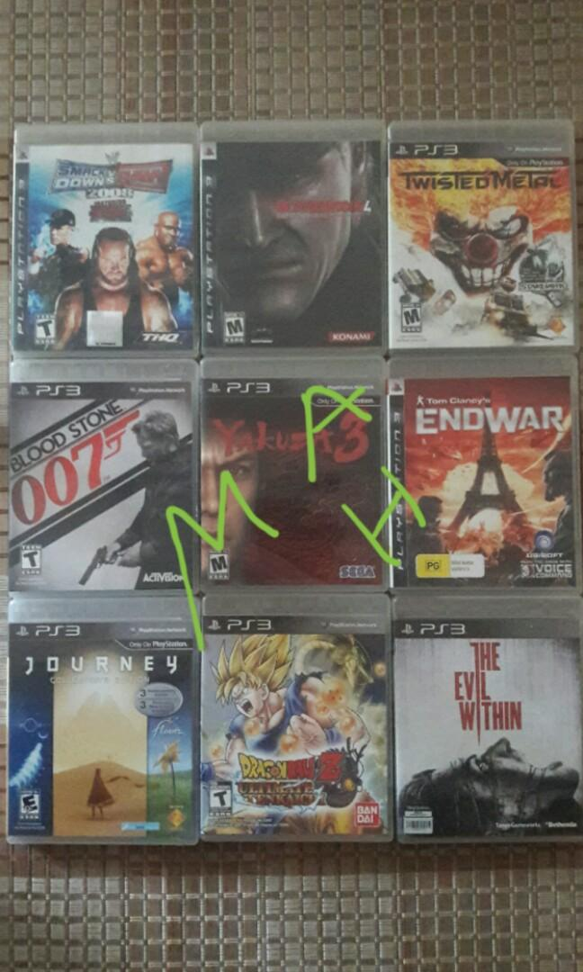 Ps3 Game 3 for Rm100