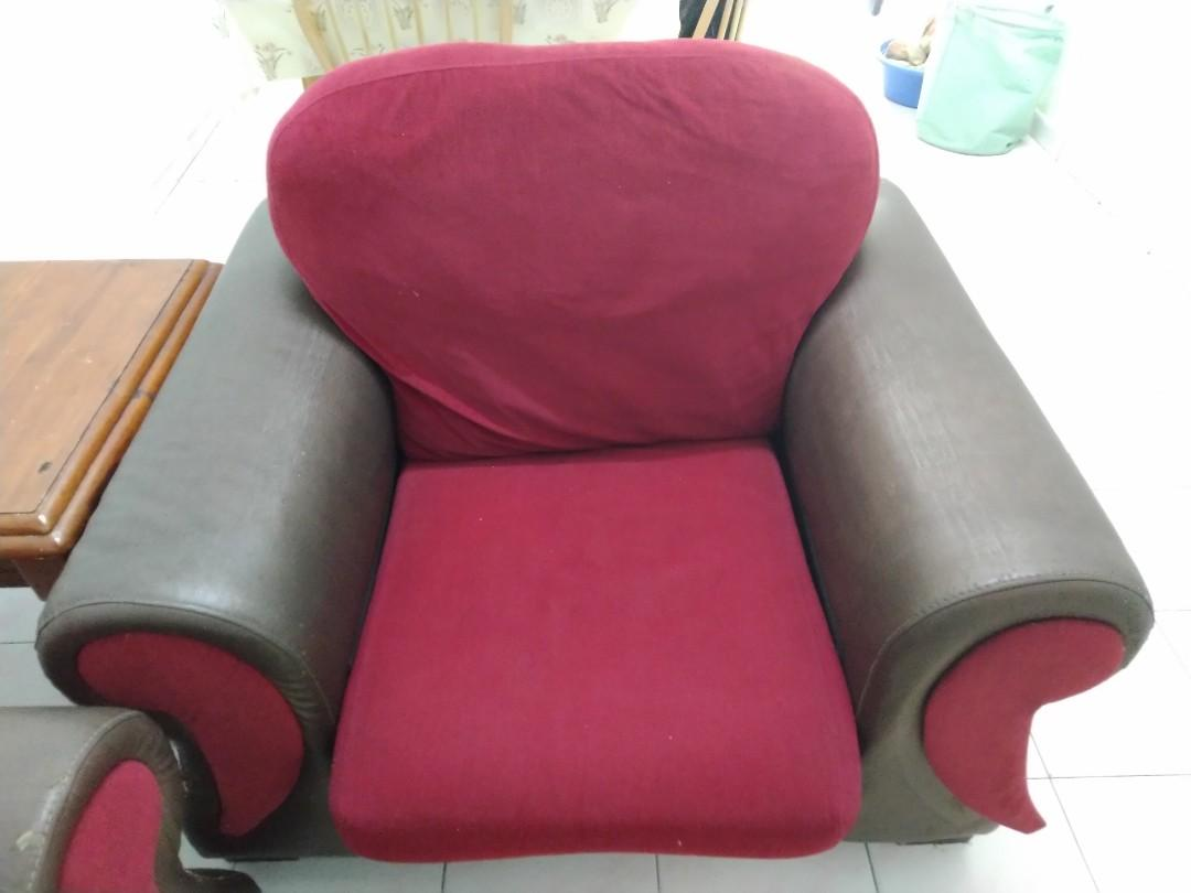 Red Sofa 3+1