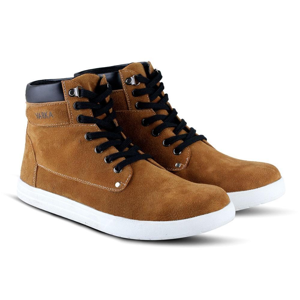 Sepatu Booth V 389 Brand Varka Sepatu Kasual Pria Warna Tan