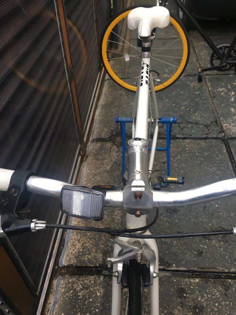 Sepeda Fixie Basic Bike Colony White