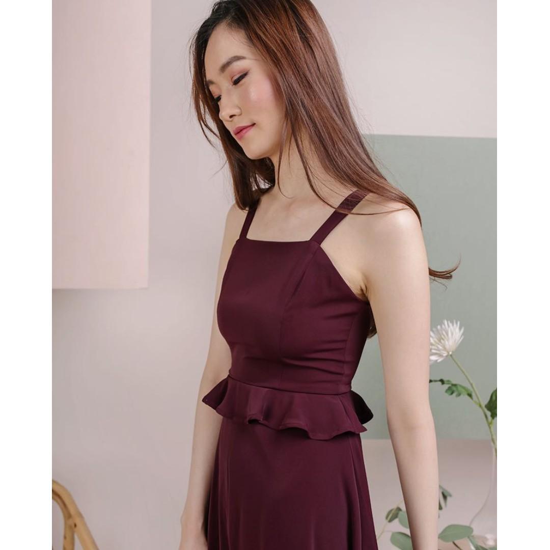 TTR BNWT Deana Peplum Dress in Plum