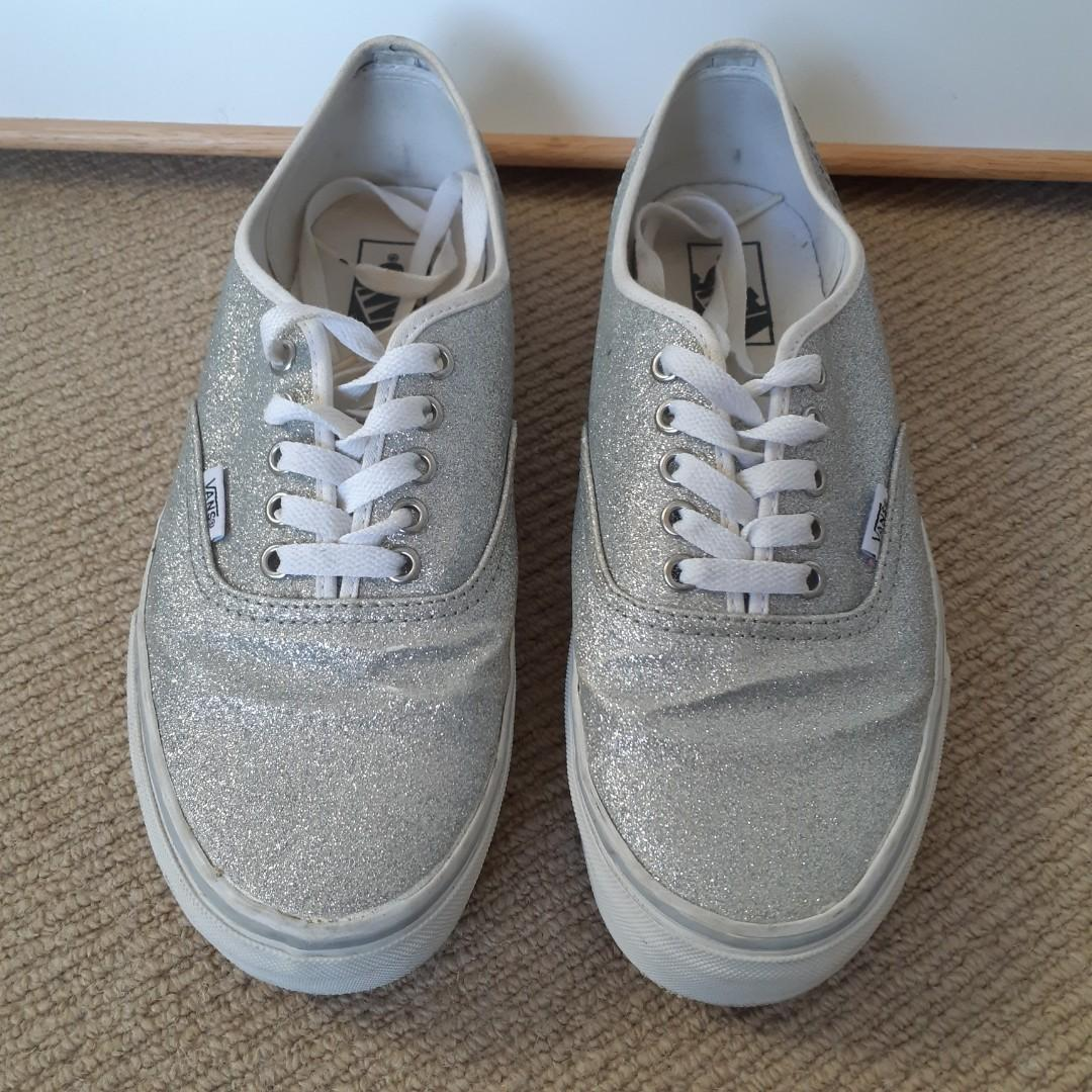 Vans Silver Glitter Authentic